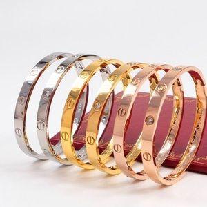 Designer Bracelet Bangles CZ Unisex Titanium